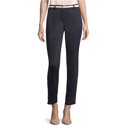 Betty Barclay Stella Trousers With Belt Navy  - Click to view a larger image