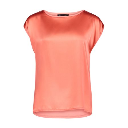 Betty Barclay Cap Sleeve Top Orange  - Click to view a larger image