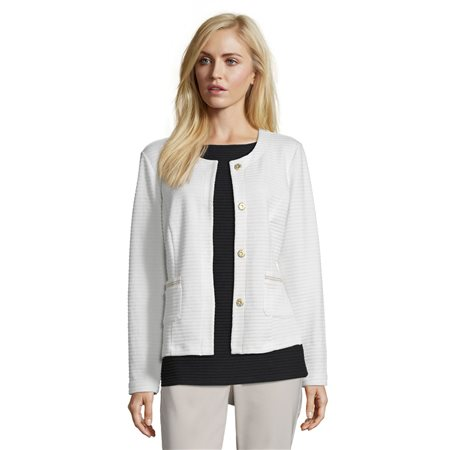 Betty Barclay Rope Textured Jacket Off White  - Click to view a larger image