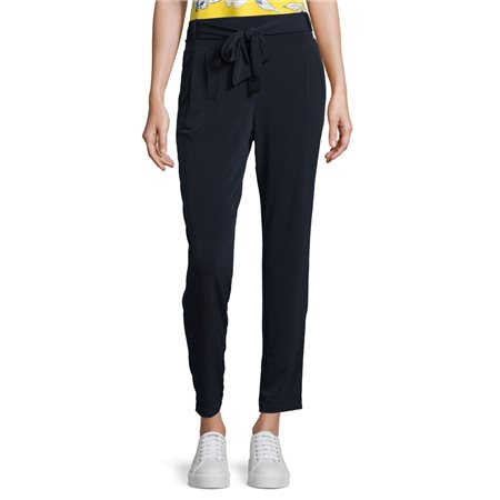 Betty Barclay Jersey Trousers With Tie Navy  - Click to view a larger image