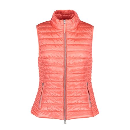 Betty Barclay Quilted Gilet Coral  - Click to view a larger image