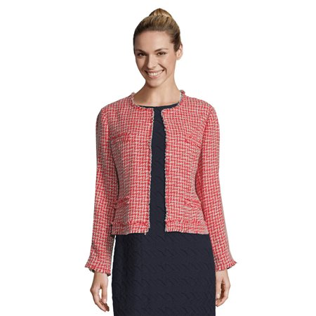 Betty Barclay Unlined Woven Jacket Red  - Click to view a larger image