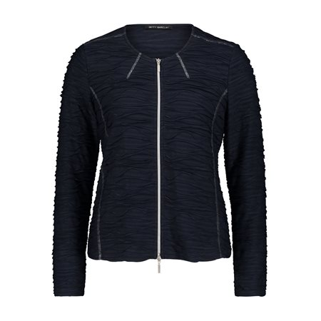Betty Barclay Waffle Zipped Jacket Navy  - Click to view a larger image