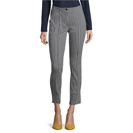 Betty Barclay Fine Check Trouser Navy  - Click to view a larger image