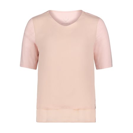 Betty Barclay V Neck Layered Front Top Pink  - Click to view a larger image