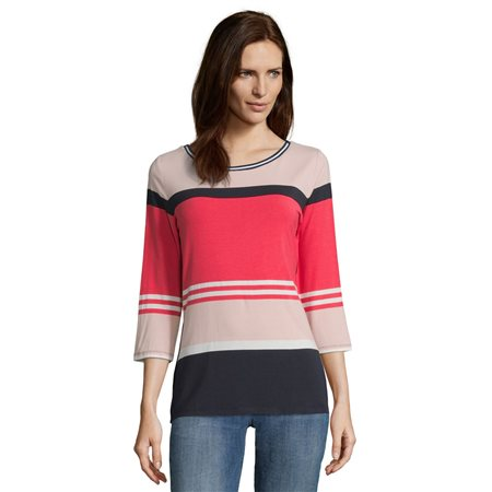 Betty Barclay Colour Block Top Pink  - Click to view a larger image