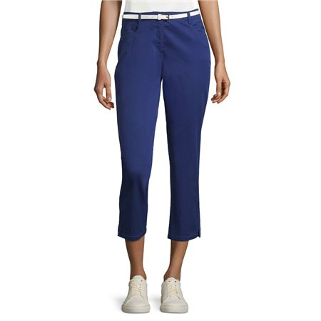 Betty Barclay Cropped Jeans With Belt Blue  - Click to view a larger image