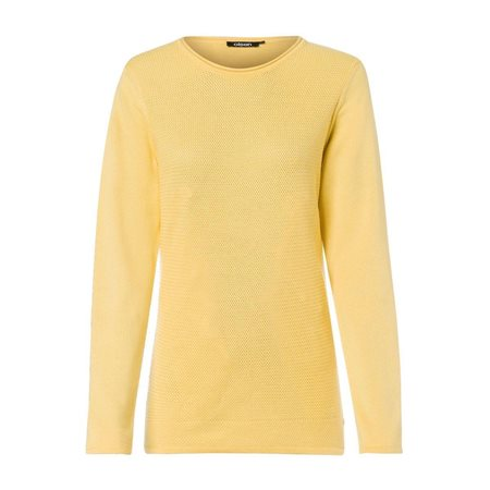 Olsen Knitted Waffle Jumper Yellow  - Click to view a larger image