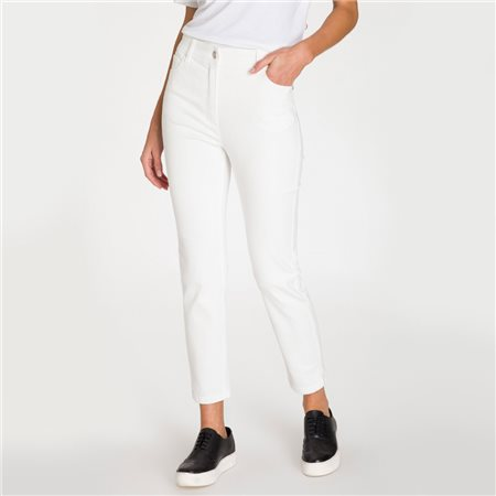 Olsen Mona Slim Jeans White  - Click to view a larger image