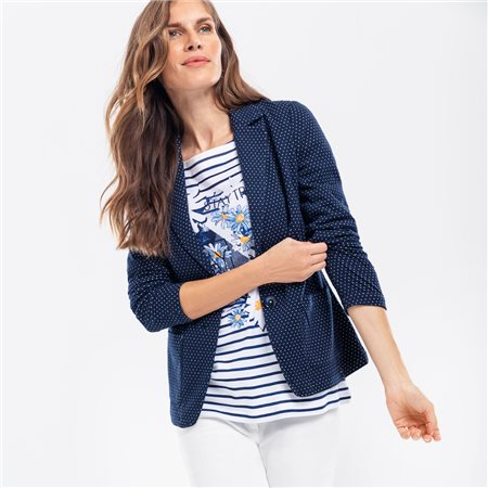 Olsen Spot Jersey Blazer Navy  - Click to view a larger image