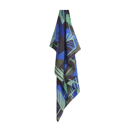 Sandwich Silk Scarf With Organic Print Green  - Click to view a larger image