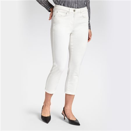 Sandwich High Waist Skinny Ankle Jean White  - Click to view a larger image