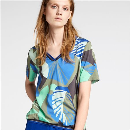 Sandwich Organic Print Top Green  - Click to view a larger image
