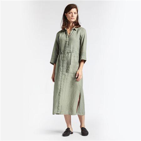 Sandwich Linen Maxi Dress Green  - Click to view a larger image