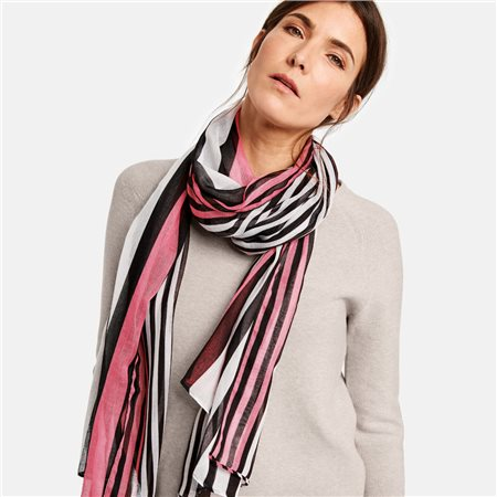 Gerry Weber Striped Scarf Black  - Click to view a larger image