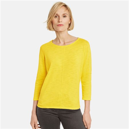 Gerry Weber Lightweight Cotton Jumper Yellow  - Click to view a larger image