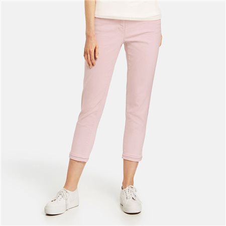 Gerry Weber Capri With Beaded Hem Pink  - Click to view a larger image