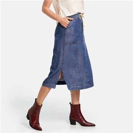 Gerry Weber Mid Lenght Skirt Blue  - Click to view a larger image