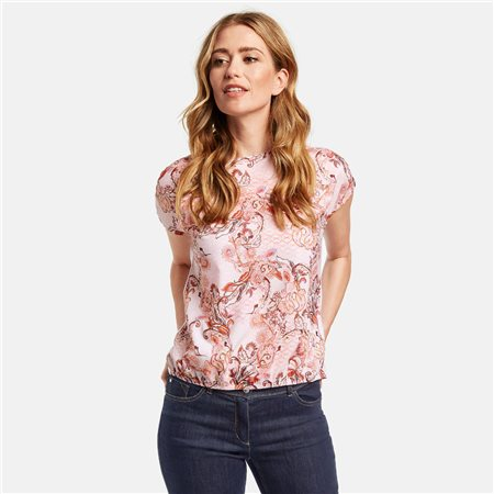 Gerry Weber Paisley Print Top Rose  - Click to view a larger image
