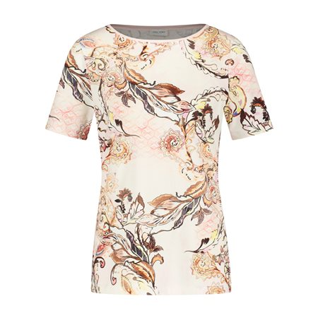 Gerry Weber Floral Print Top Rose  - Click to view a larger image