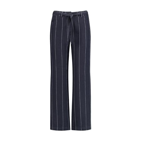 Gerry Weber Linen Trouser Navy  - Click to view a larger image