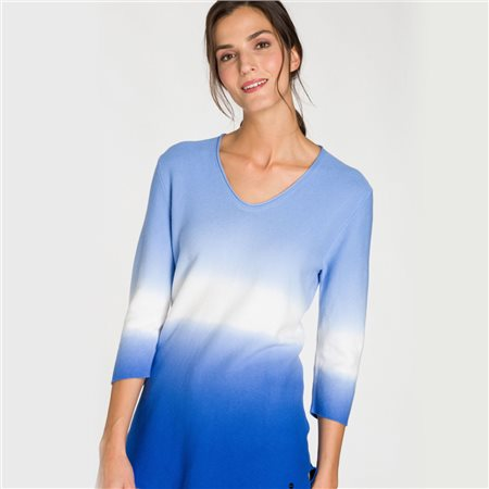 Olsen Dip Dye Effect Jumper Blue  - Click to view a larger image