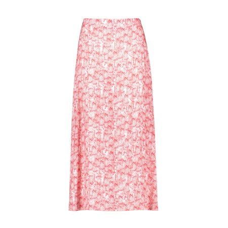 Taifun Maxi Snake Print Skirt Pink  - Click to view a larger image