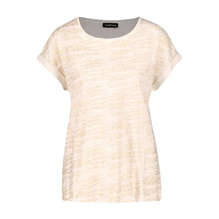 Taifun T-Shirt With Glitter Front Off White  - Click to view a larger image