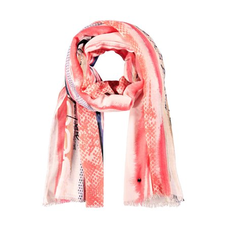 Taifun Printed Scarf Pink  - Click to view a larger image