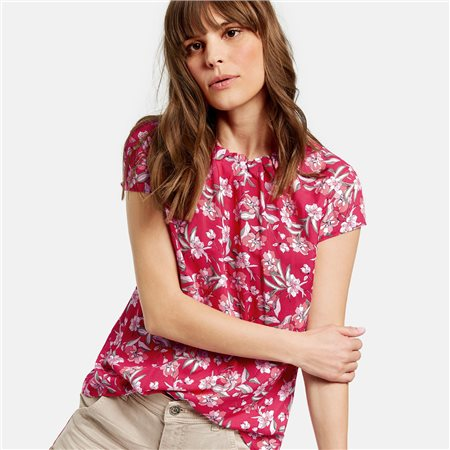 Taifun Floral Blouse Pink  - Click to view a larger image