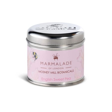 Marmalade Of London English Sweetpea Medium Tin Candle Pink  - Click to view a larger image