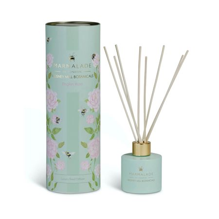 Marmalade Of London English Rose Reed Diffuser Green  - Click to view a larger image