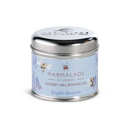 Marmalade Of London English Bluebell Medium Tin Candle Blue  - Click to view a larger image