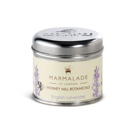 Marmalade Of London English Lavender Medium Tin Candle Lemon  - Click to view a larger image