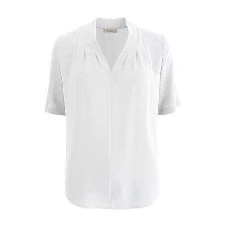 Erfo V-Neck Blouse White  - Click to view a larger image