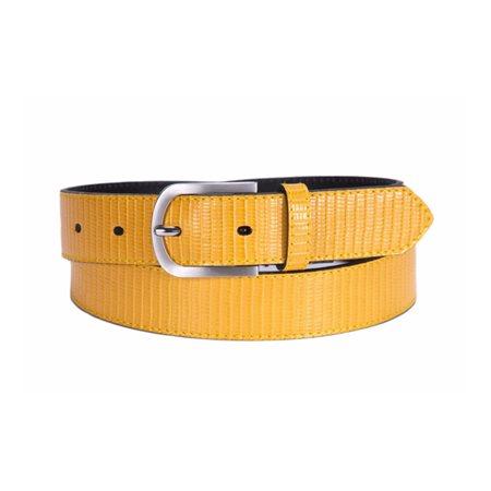 Tamaris Textured Belt Mustard  - Click to view a larger image