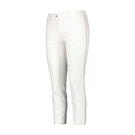 Gerry Weber Cropped Jeans With Side Stripe White  - Click to view a larger image