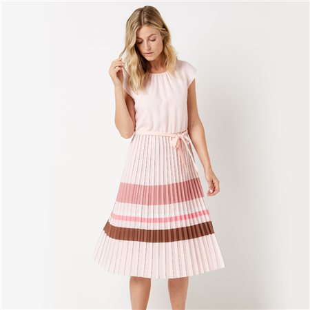 Gerry Weber Pleated Skirt Dress Pink  - Click to view a larger image