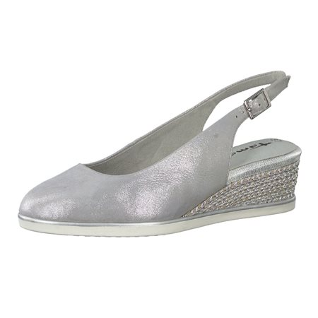 Tamaris Primula Wedge Sandal Silver  - Click to view a larger image