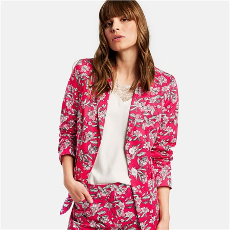 Taifun Floral Print Blazer Pink  - Click to view a larger image