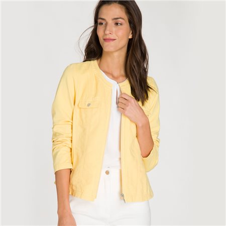 Olsen Zip Up Jacket Lemon  - Click to view a larger image