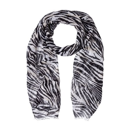Olsen Zebra Print Scarf Black  - Click to view a larger image
