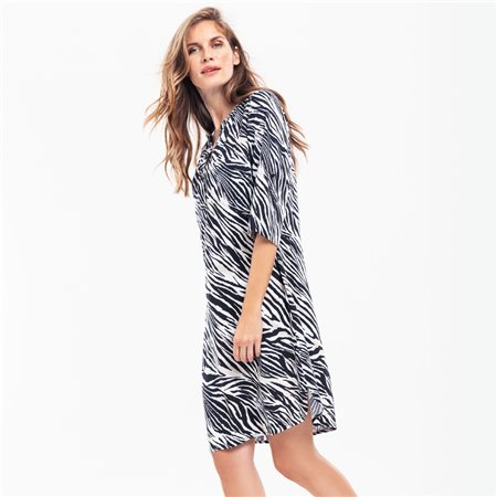 Olsen Zebra Print Dress Black  - Click to view a larger image