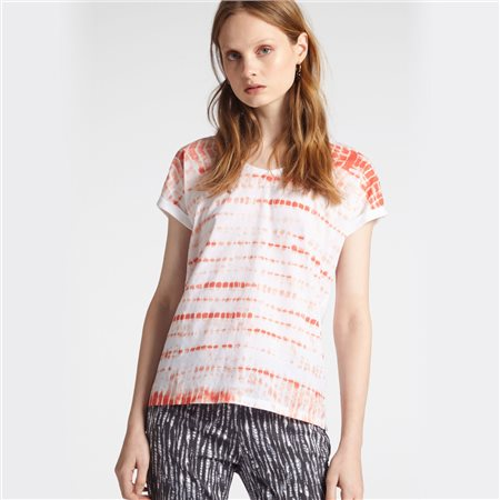 Sandwich Graphic Print Top Coral  - Click to view a larger image