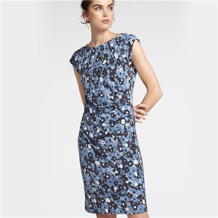Sandwich Watercolour Print Dress Blue  - Click to view a larger image
