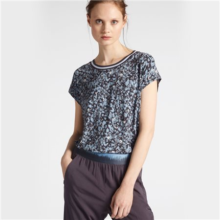 Sandwich All Over Graphic Print Top Blue  - Click to view a larger image