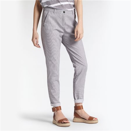 Sandwich Slim Fit Striped Trousers Grey  - Click to view a larger image
