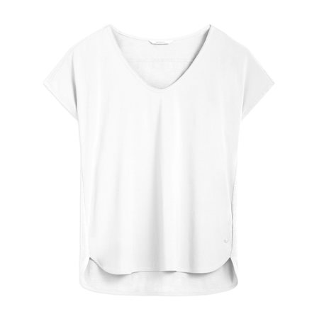 Sandwich V Neck Top White  - Click to view a larger image