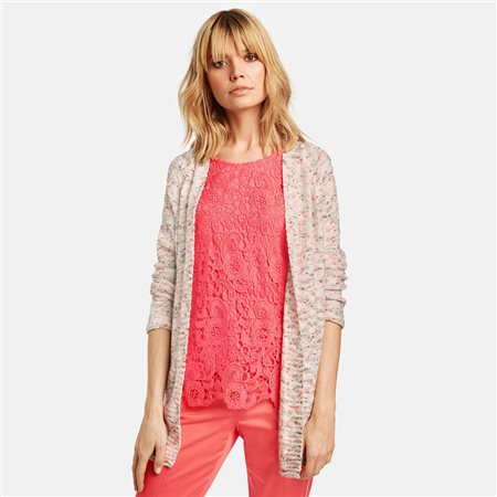 Taifun Textured Knit Cardigan Off White  - Click to view a larger image