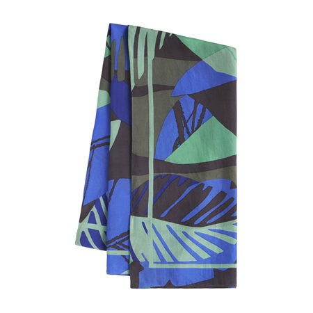 Sandwich Statement Print Scarf Green  - Click to view a larger image